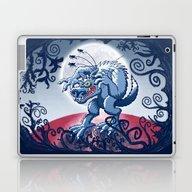 Werewolf Scratching Spoo… Laptop & iPad Skin