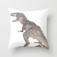 Tyrannosaurus Rex  ROAR!! Throw Pillow