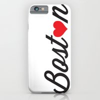 boston iPhone & iPod Cases featuring Boston by Julia Paige Designs