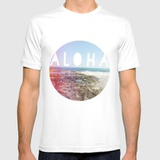 Aloha Mens Fitted Tee White SMALL