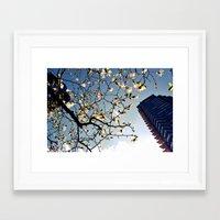 here is spring Framed Art Print