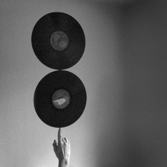 Spinning Records Art Print