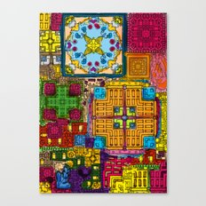 Colourful collage Canvas Print