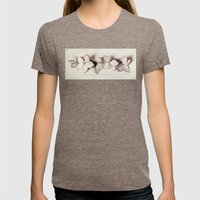 five in a row Womens Fitted Tee Tri-Coffee SMALL