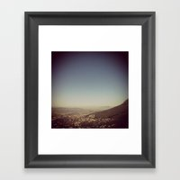 City That Sits At The Fe… Framed Art Print