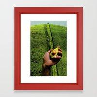 Up Hill Framed Art Print