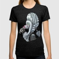 Chimp Womens Fitted Tee Tri-Black SMALL