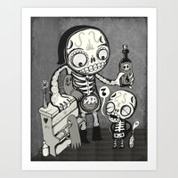 Skulls Night Out Art Print