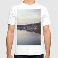 Boat House Row, Philadelphia SMALL Mens Fitted Tee White