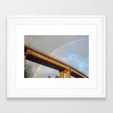Rainbow Bridge Framed Art Print