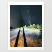 Darkening the Sky Art Print