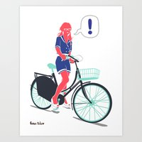 Art Print featuring LE COOL GAL by Mexican Zebra