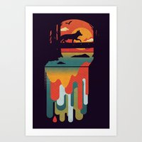 Great Falls Art Print