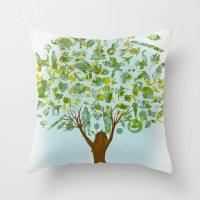 Life Tree Throw Pillow