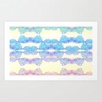 Geometric Swirls Art Print