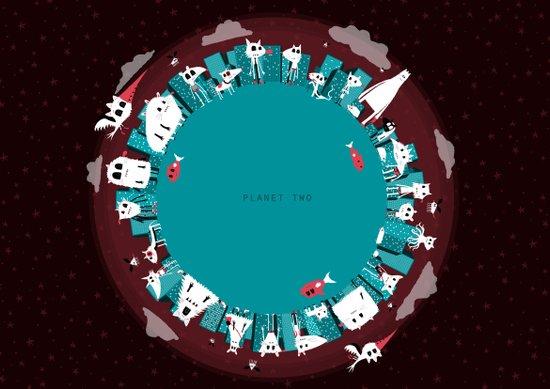 Planet Two Art Print