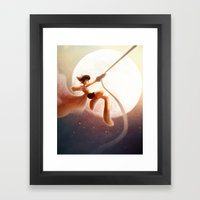 To the Moon!  Framed Art Print