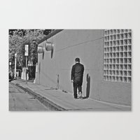 Lonely Man In Black Canvas Print