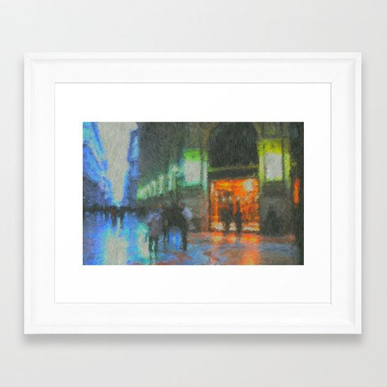 Streets of Milan Framed Art Print