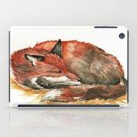 Sleeping Fox Watercolor iPad Case