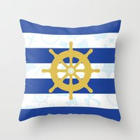 Seven Seas Throw Pillow