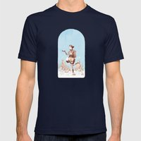 Walking Home Mens Fitted Tee Navy SMALL