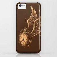 iPhone 5c Cases featuring Time Flies by Enkel Dika