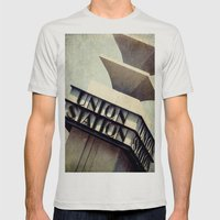 Union Station Mens Fitted Tee Silver SMALL