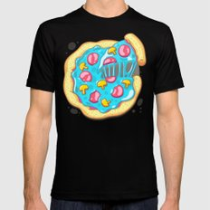 Blue Pizza Mens Fitted Tee SMALL Black