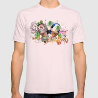 Free Love Mens Fitted Tee Light Pink SMALL