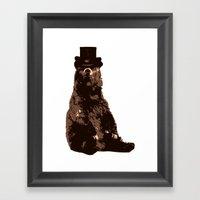 Bear In Hat Framed Art Print