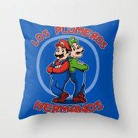 Los Plomeros Hermanos Throw Pillow
