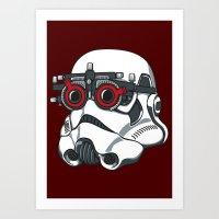 Stormtrooper Eyetest Art Print