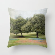 Hillcountry Bluebonnets Throw Pillow