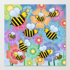 Busy Buzzers. Canvas Print