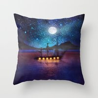 The Lights And The Silen… Throw Pillow