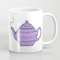 Patterned Teapots Mug