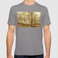 Stunning View Of Bushfir… Mens Fitted Tee Tri-Grey SMALL