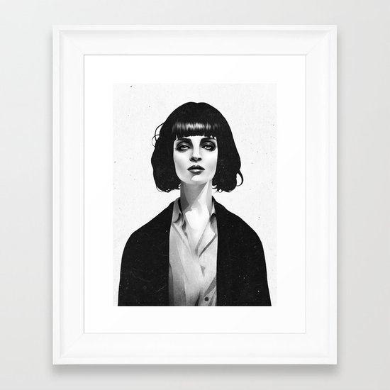 Mrs Mia Wallace Framed Art Print