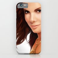 iPhone & iPod Case featuring Sandra Bullock by RoPerez