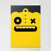 Monster Art Stationery Cards