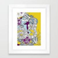 Coral Illustration Framed Art Print
