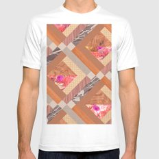 Cubed White Mens Fitted Tee SMALL