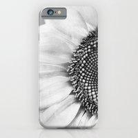 iPhone Cases featuring B&W Sunflower by Viviana Gonzalez