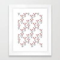 X Flowers Framed Art Print