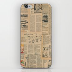 Vintage Fifties Paper Articles iPhone & iPod Skin