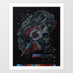 A momentary realization of a larger connection Art Print