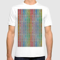 Binary Colours Mens Fitted Tee White SMALL