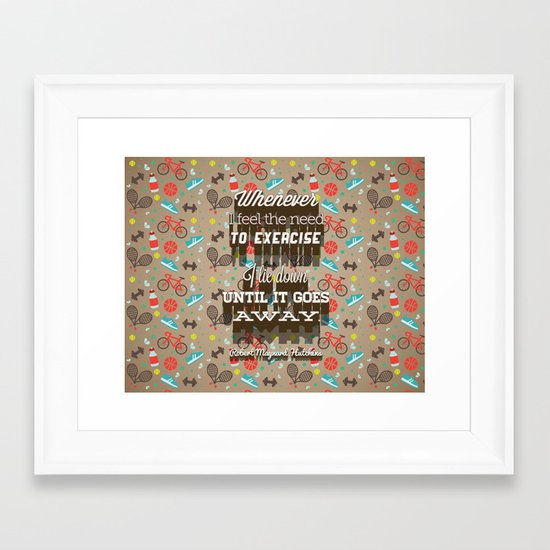 Exercising... Framed Art Print