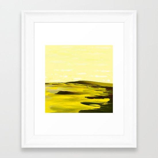 Giraffes Roamed the Sulfur Sands Framed Art Print